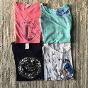 LOT CREWCUTS 7 pieces t-shirts skirt size 10